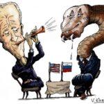 Саммит Байдена и Путина высмеяли новыми карикатурами